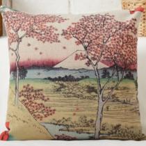 Díszpárna huzat Hokusai Fuji Aki