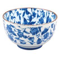 kék virágos chawan 12,7x7,5cm, 500ml