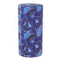 Kék legyező teás tároló 7,4x15,5 cm