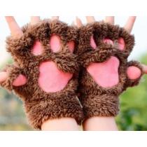 cica mancs kesztyű barna