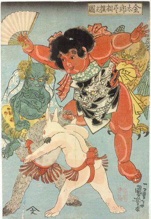 kintaro, ukiyo e, sumo