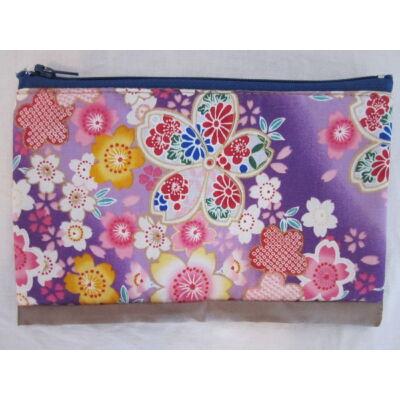 """Sakura"" Kozmetikai táska- Lila/Kék"