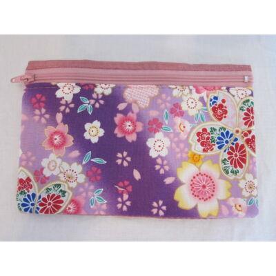 """Sakura"" Kozmetikai táska- Lila/Pink"