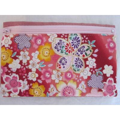 """Sakura"" Kozmetikai táska- Piros/Pink"