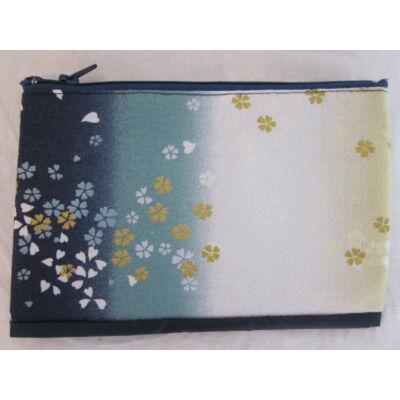 """""""Selyem Sakura"""" Kozmetikai táska- Kék"""