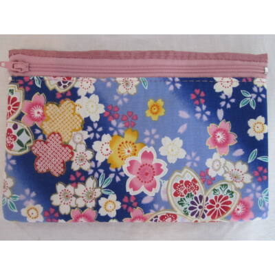 """Sakura"" Kozmetikai táska- Kék/Pink"