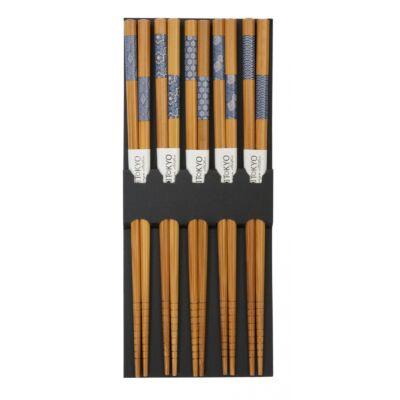 Evöpálcika szett- kék bambusz