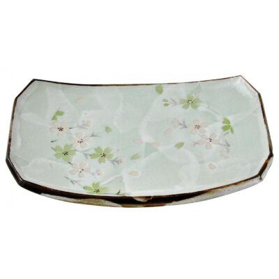Zöld Sakura Sushi tányér
