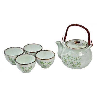 Porcelán japán teás készlet, teás kanna, teás csésze
