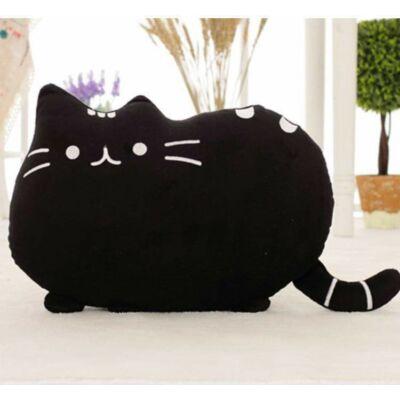 Pusheen a macska plüss párna- Fekete