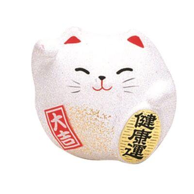 Maneki neko porcelán macska, fehér