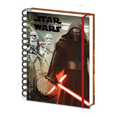 Star Wars Episode VII Jegyzetfüzet A5 Kylo Ren & Troopers