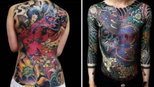 irezumi yakuza tetoválás japán