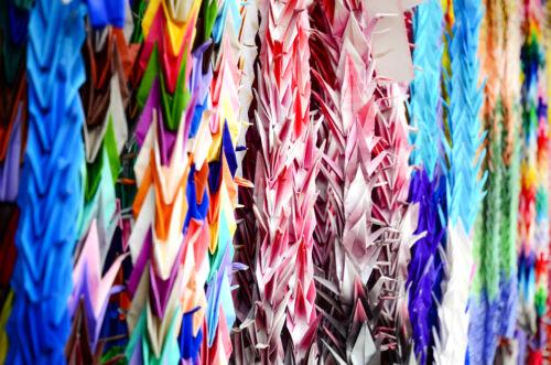 origami daru tsuru japán
