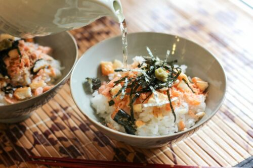 ochazuke japán rizs tea étel gasztronomia