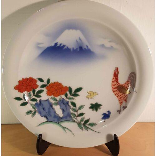 Porcelán tányér Fuji mintás, 15 cm átmérő