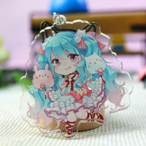 Hatsune Miku Gumi-Kulcstartó Hatsune Miku kawaii 7 cm