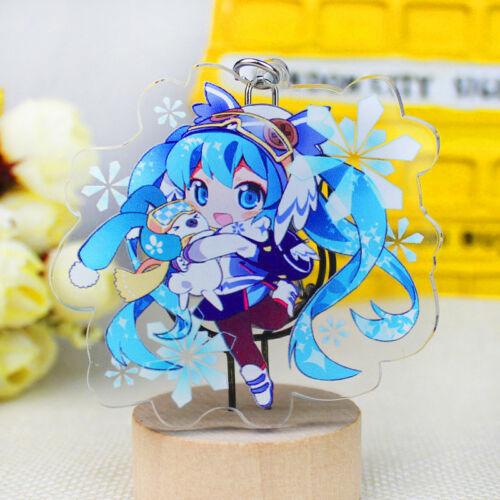 Hatsune Miku Gumi-Kulcstartó Hatsune Miku nyuszi kawaii 7 cm