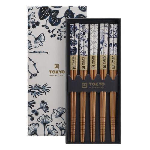 Evöpálcika szett bambusz flora japonica tradícionális mintákkal