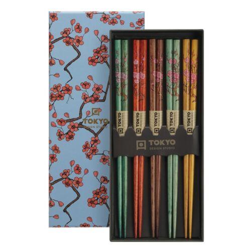 Evöpálcika szett bambusz sakura tradícionális mintákkal