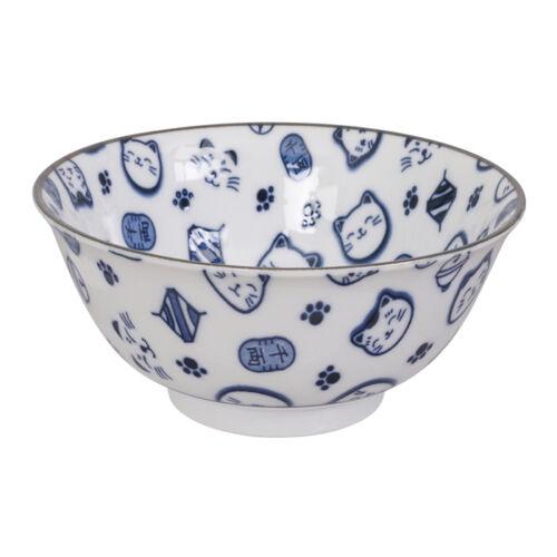 japán maneki neko minta porcelán udon tál