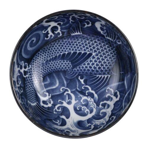 japán koi hal minta porcelán udon tál