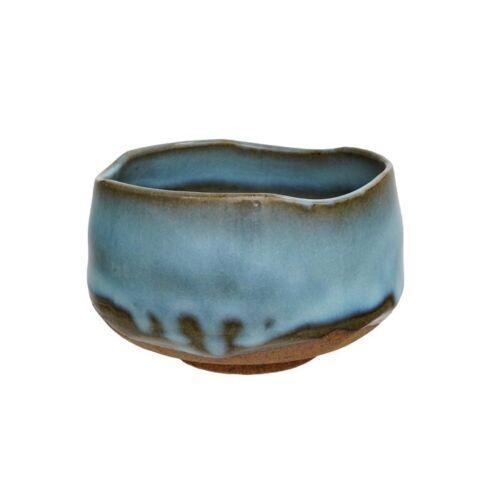 kék kézzel készített chawan 11,7x7,5cm, 500ml