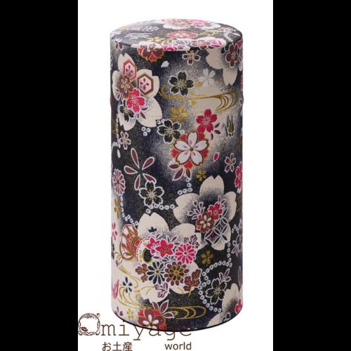 Fekete sakura virágos teatároló 7,4x15,5 cm
