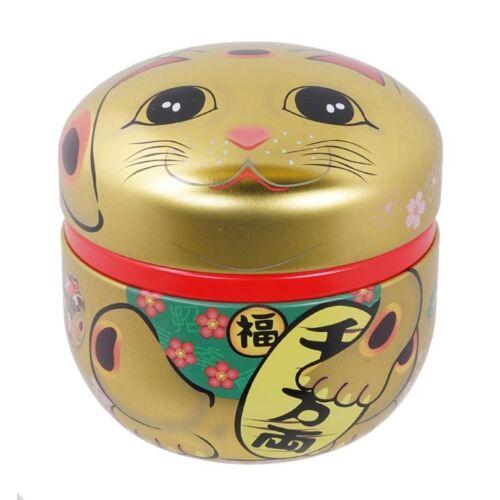 Maneki Neko arany színű tea tároló