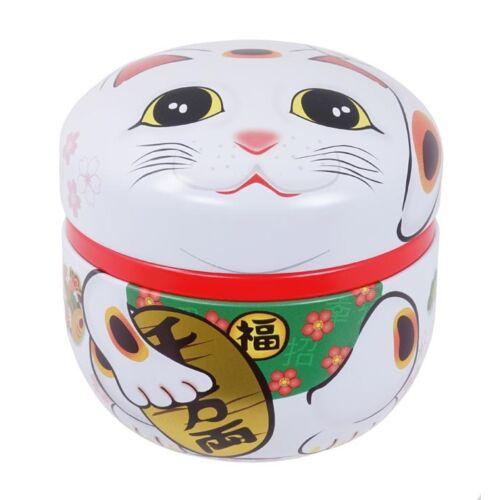 Maneki Neko fehér színű tea tároló
