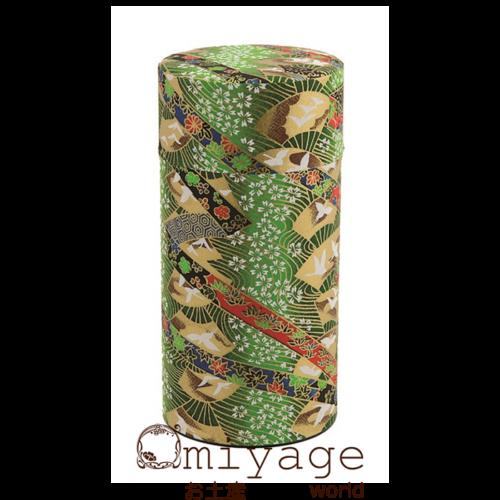 Zöld legyezős teatároló teatároló 7,4x15,5 cm