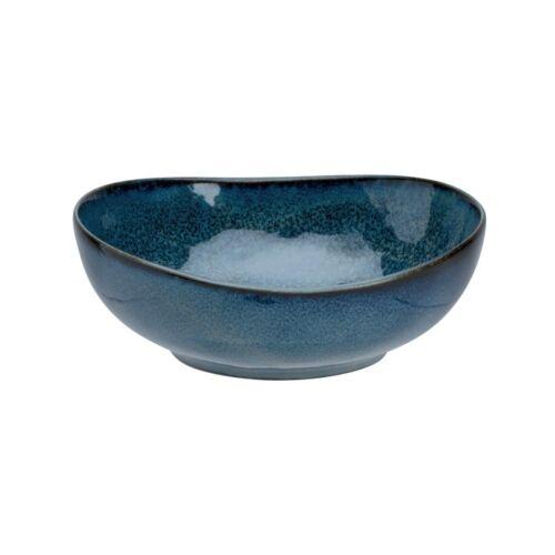 ikebana tál, váza, kék 16x7,7 cm, 750 ml
