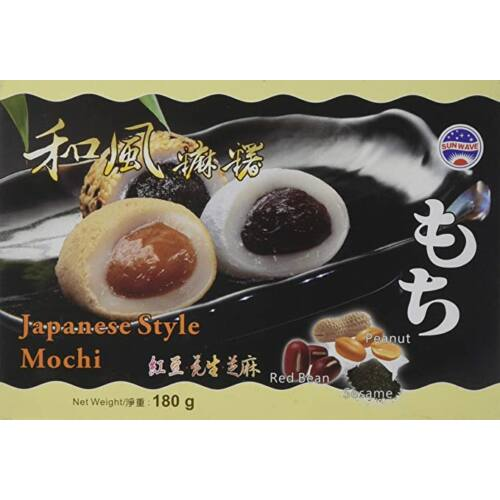 Fekete szezámos-vörös babos- mogyorós mochi
