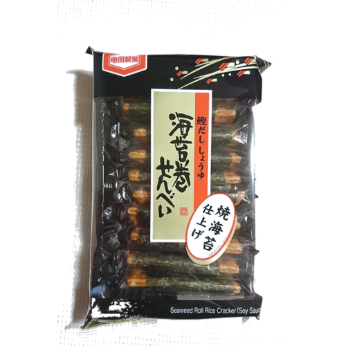 Kameda Norimaki Senbei rizs keksz ropogtatni való Japánból