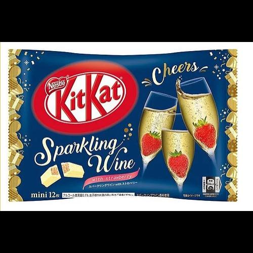 Sparkling wine, pezsgős, csokis Kit Kat