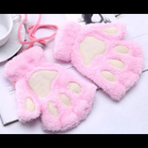 rózsaszín cica mancs kesztyű