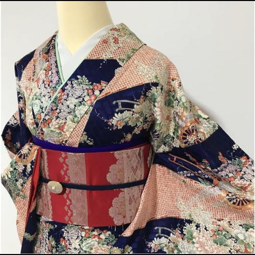 hanafubuki selyem kimono kioto