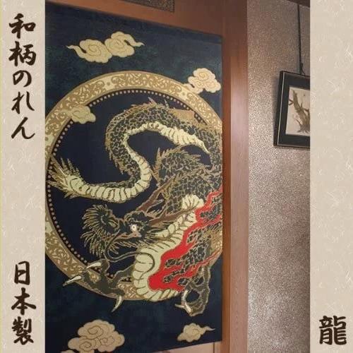 sárkányos  japán noren