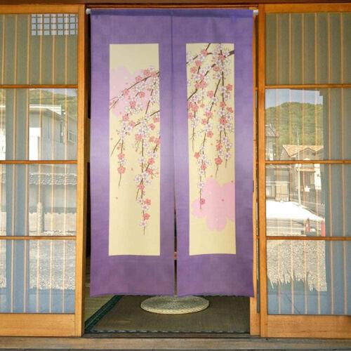 lila rózsazín sakura japán noren