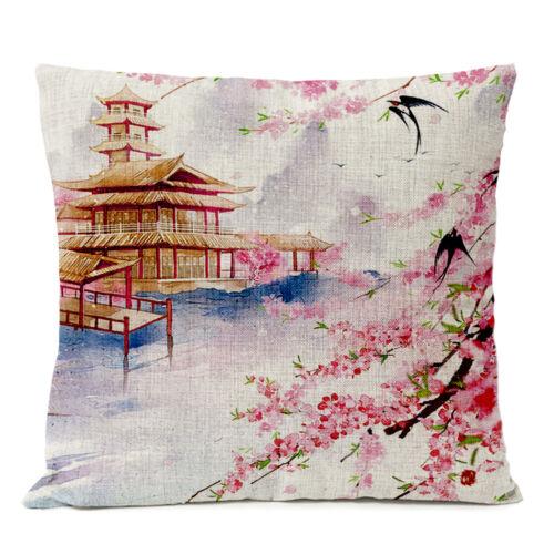 Díszpárna huzat pagoda, sakura