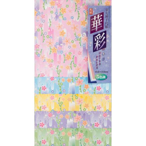 Sakura virágos origami papír 25 lap