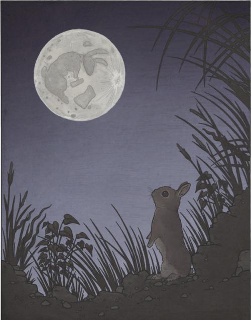 nyul bunny hold moon japan mese monda