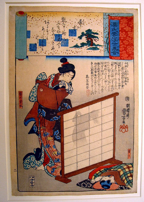 kuniyoshi, kuzu no ha ukiyo e japan
