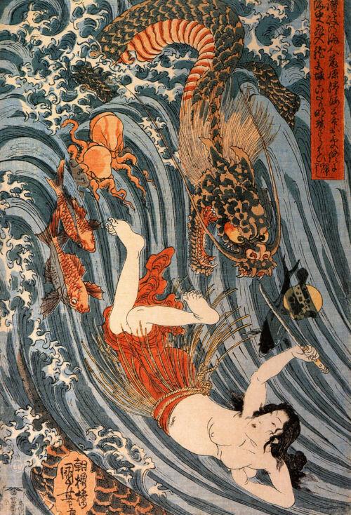 sárkány király japán mitológia, mondák
