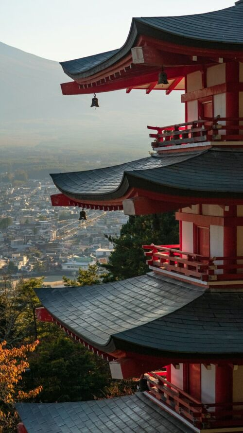 chureito pagoda japán utazás fuji kilátás