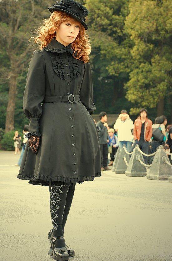 black lolita japan divat