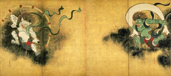 fujin raijin japan shintoizmus istenek ogata korin
