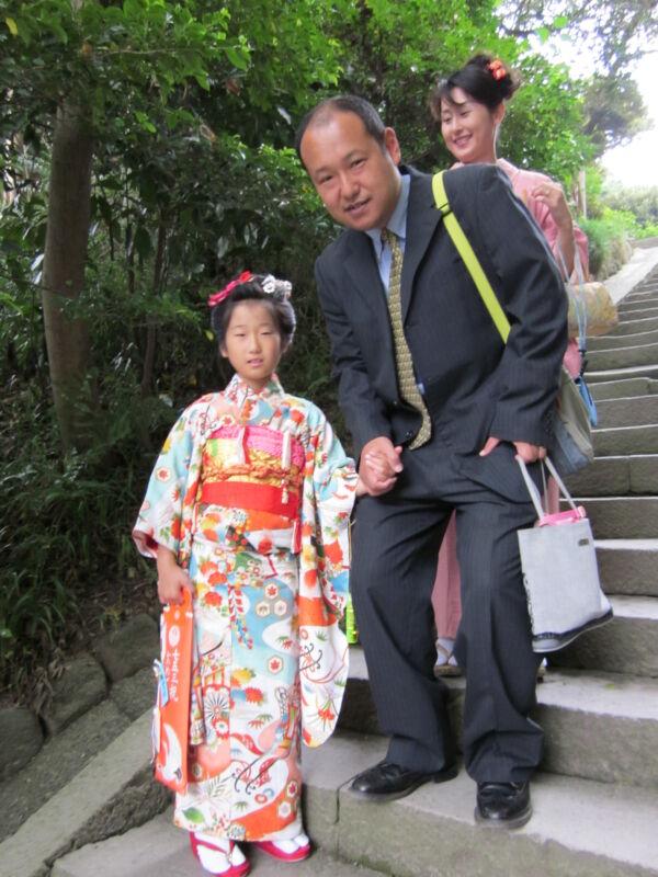 japán ünnep shichi go san kimono gyerek kanzashi